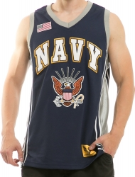 View Buying Options For The RapDom US Navy Eagle Logo Mens Basketball Jersey