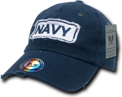View Buying Options For The RapDom US Navy Giant Stitch Patch Vintage Distressed Mens Cap