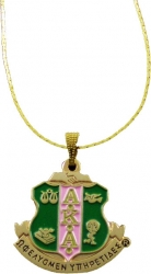 View Buying Options For The Alpha Kappa Alpha Crest Drop Pendant with Chain