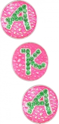 View Buying Options For The Alpha Kappa Alpha 3 Snap Button Letter Set