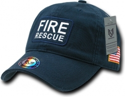 View Buying Options For The RapDom Fire Rescue Dual Flag Raid Unstructured Mens Cap