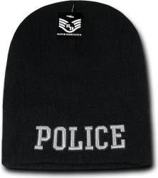 View Buying Options For The RapDom Police Public Safety Mens Short Knit Beanie Cap