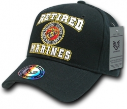 View Buying Options For The RapDom Retired Marines Round Emblem Mens Cap