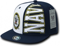 View Buying Options For The RapDom United States Navy 2-Tone Stack Up Mens Snapback Cap