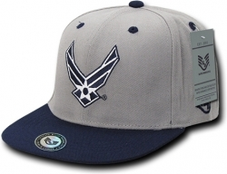 View Buying Options For The RapDom Air Force USAF 2-Tone Jumbo Back Military Mens Snapback Cap
