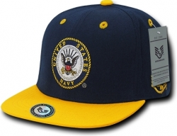 View Buying Options For The RapDom Navy Jumbo Back Military Mens Snapback Cap