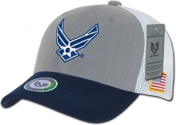 View Buying Options For The RapDom United States Air Force Tri-Color Deluxe Mesh Military Mens Cap