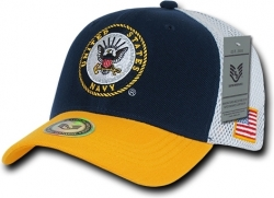 View Buying Options For The RapDom Navy Deluxe Mesh Military Mens Cap