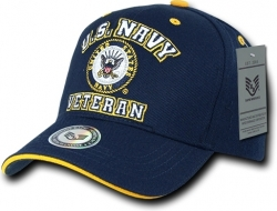 View Buying Options For The RapDom U.S. Navy Veteran Emblem Mens Cap