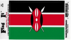 View Buying Options For The Kenya Flag Car Decal Sticker [Pre-Pack]