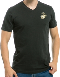 View Buying Options For The RapDom Marines Globe & Anchor Logo Military V-Neck Mens Tee