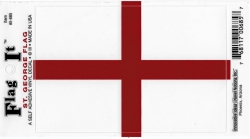 View Buying Options For The St. George England Flag Car Decal Sticker [Pre-Pack]