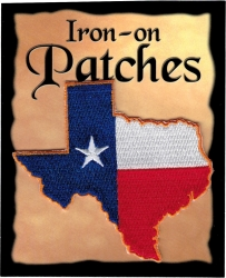View Buying Options For The Texas State Shaped Flag Iron-On Patch [Pre-Pack]