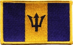View Buying Options For The Barbados Flag Iron-On Patch [Pre-Pack]