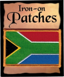 View Buying Options For The South Africa Flag Iron-On Patch [Pre-Pack]