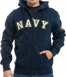 View Buying Options For The RapDom US Navy Full Zip-Up Mens Hoodie Jacket