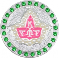 View Buying Options For The Alpha Kappa Alpha Pearl Ivy Crystal Single Snap Button