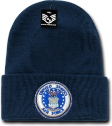 View Buying Options For The RapDom Air Force Emblem Military Long Cuff Mens Beanie Cap