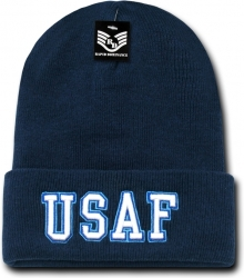 View Buying Options For The RapDom Air Force Text Military Long Cuff Mens Beanie Cap