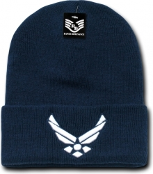 View Buying Options For The RapDom Air Force Wings Military Long Cuff Mens Beanie Cap