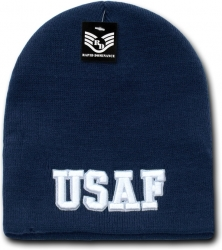View Buying Options For The RapDom Air Force USAF Text Military Work Mens Short Beanie Cap