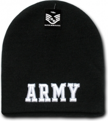 View Buying Options For The RapDom Army Text Military Work Short Beanie Cap