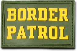 View Buying Options For The RapDom Border Patrol Text Rubber H&L Velcro-Back Patch [Pre-Pack]