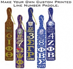 View Buying Options For The Greek Letter Custom Printed Line Name & Number Wood Paddle