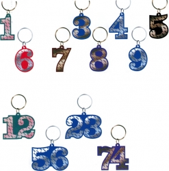 View Buying Options For The Greek Color Mirror Line Number Keychain