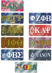 View Buying Options For The Greek Or Mason Printed Symbol Crest Mirror License Plate
