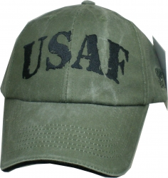 View Buying Options For The USAF Rubber Stamp Text Mens Cap