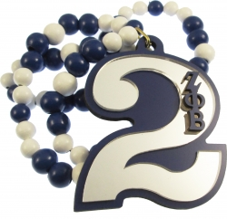 View Buying Options For The Zeta Phi Beta Line #2 Mirror Wood Color Bead Tiki Necklace