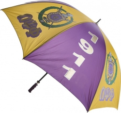 View Buying Options For The Omega Psi Phi 8 Panel Print Jumbo Umbrella
