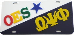View Buying Options For The Eastern Star + Omega Psi Phi Split License Plate