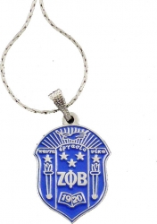 View Buying Options For The Zeta Phi Beta Crest Pendant with Chain