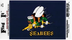 View Buying Options For The Seabees Logo Flag Outside Car Decal Sticker [Pre-Pack]