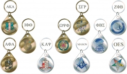 View Buying Options For The Greek Or Mason Symbol Crest Domed Crest Keychain