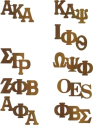 View Buying Options For The Greek Or Mason Letters Wood Lapel Pin