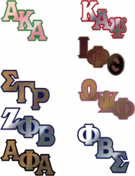 View Buying Options For The Greek Big Letter Mirror Lapel Pin