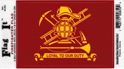 View Buying Options For The Firefighter Loyal To Our Duty Flag Outside Car Decal Sticker [Pre-Pack]