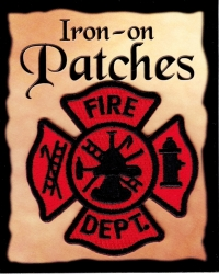 View Buying Options For The Firefighter Fire Dept. Symbol Cut-Out Iron-On Patch [Pre-Pack]