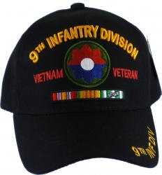 View Buying Options For The 9th Infantry Division Vietnam Veteran Red Letter Mens Cap