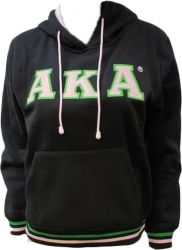 View Buying Options For The Alpha Kappa Alpha Applique Pullover Ladies Hoodie