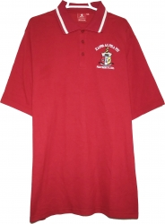 View Buying Options For The Kappa Alpha Psi Shield Solid Color Polo Golf Mens Tee