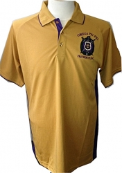View Buying Options For The Omega Psi Phi Escutcheon Shield Dri-Fit Mens Polo Shirt