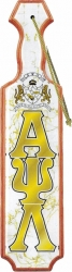 View Buying Options For The Alpha Psi Lambda Shield Domed Paddle