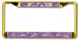 View Buying Options For The Sigma Lambda Beta Domed Script License Plate Frame