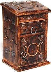 View Buying Options For The Triple Moon Tall Herb Chest with Drawer