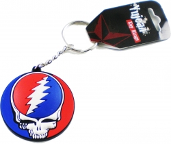 View Buying Options For The Deadhead Skull Rubber Keyring