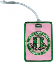 View Buying Options For The Alpha Kappa Alpha Sorority, Inc. Round Crest Luggage Tag